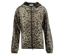 Leopard-print Shell Hooded Jacket Leoparden-Print