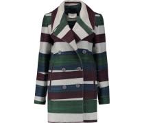 Striped Wool-blend Felt Coat Mehrfarbig