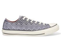 Printed Canvas Sneakers Grau