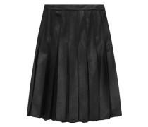 Melita leather and chiffon-paneled skirt