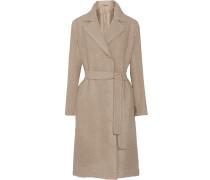 Belted Bouclé Wool Coat Altrosa