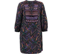 Gigi lace-up printed silk mini dress