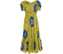 Isla Printed Cotton-poplin Midi Dress