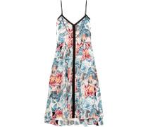 Linda Printed Silk Dress Mehrfarbig