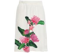 Elisa Floral-print Crepe Skirt
