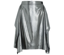 Heathcote Metallic Twill Skirt Silber