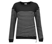 Adelaide Striped Cotton-blend Sweater Schwarz