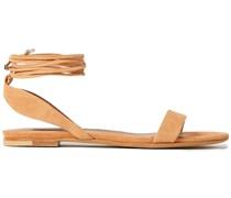 Amii Sandalen aus Veloursleder mit Schnürung