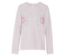 Embroidered French Cotton-terry Sweatshirt Flieder
