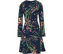 Kleid mit Einsätzen aus Stretch-crêpe mit Floralem Print