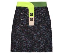 Paneled Bouclé Mini Skirt Mehrfarbig