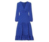 Devin Ruffle-trimmed Tiered Fil Coupé Silk-chiffon Midi Dress