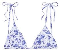 Avery Triangel-bikini-oberteil mit Floralem Print