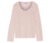 Metallic Printed Cotton-jersey Pajama Top Pastellrosa