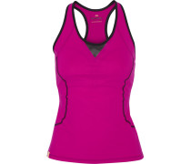 Speed Mesh-trimmed Stretch-jersey Tank Magenta