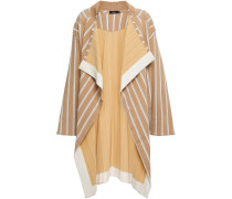 Draped Striped Stretch-twill Jacket