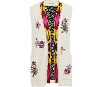 Frayed Embellished Silk Vest