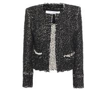 Juliana Frayed Jacquard-knit Cotton-blend Jacket