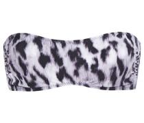 Leopard-print Bandeau Bikini Top