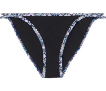 Waikiki Nights Stretch-neoprene Low-rise Bikini Briefs