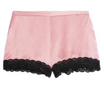 Lace-trimmed Silk-satin Pajama Shorts Altrosa