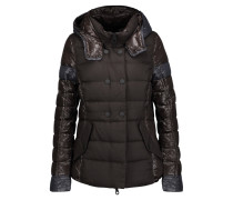 Calinitide Paneled Twill And Quilted Shell Down Hooded Coat Schiefer