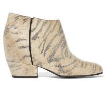 Siena Metallic Printed Suede Ankle Boots Mattgold