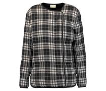 Quilted Checked Cotton-blend Jacket Schwarz