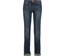 Low-rise Straight-leg Jeans Dunkler Denim