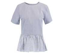 Wylie striped cotton peplum top
