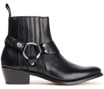 Marley Ring-embellished Leather Ankle Boots