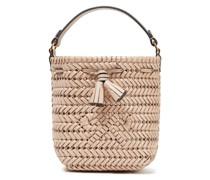 The Neeson Woven Leather Bucket Bag