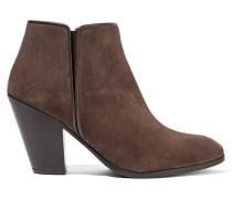 Suede Ankle Boots Dunkelbraun