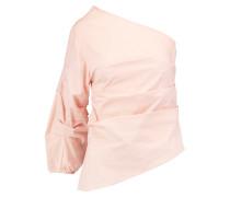 Randall One-shoulder Cotton-poplin Top Neutral