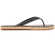Sandalen aus Ripsband mit Print