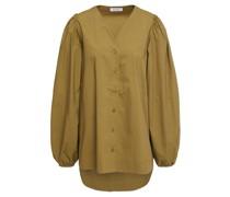Geraffte Bluse aus Baumwollpopeline