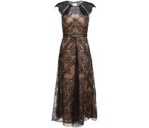 Neko Open-back Chantilly Lace Midi Dress