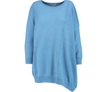 Asymmetric Cashmere Sweater Blau