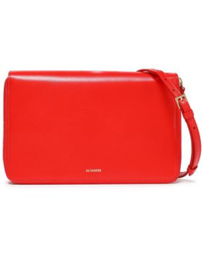 Leather Clutch Tomato Red Size --
