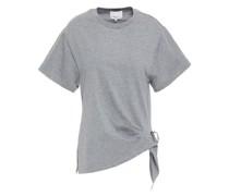 T-shirt aus Baumwoll-jersey mit Zierschnallen