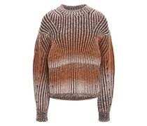 Dégradé Ribbed-knit Sweater