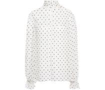 Swiss-dot Silk-georgette Blouse