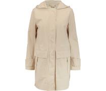 Cotton-blend Shell Hooded Coat Ecru