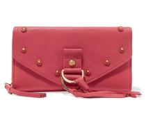 Collins Tasseled Leather Wallet Bonbonrosa