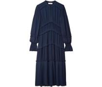 Stella Ruffled Pleated Chiffon Midi Dress