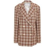 Debbie Doppelreihiger Blazer aus Tweed aus Einer Baumwollmischung