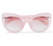 + Linda Farrow Cat-eye Acetate Sunglasses Babypink