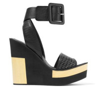 Juanita woven leather wedge sandals