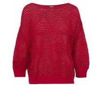 Pointelle-knit top
