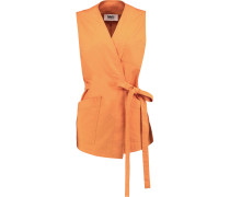 Cotton Gilet Orange